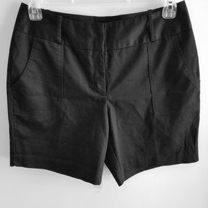 Worthington Mid-Thigh Black Dress Shorts